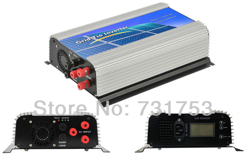 MAYLAR@ 1000W Wind Grid Tie Inverter For 24V/48V 3 Phase Wind Generator/Turbine,LCD Display ,90-260VAC maylar 300w wind grid tie inverter for 3 phase 24 48v ac wind turbine input 22 60v output 90 260v 50hz 60hz no need controller