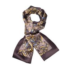 Мода кешью цветы чистый шелк мужской шарф осень и зима двойной слой шейный платок для подарка