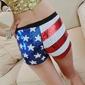 TASTIEN 2017 New Fashion Women Sexy Dancing Shorts  Jazz Dancer Shorts Low Waist Stretch Sequins Details Clubwear Lead dancer