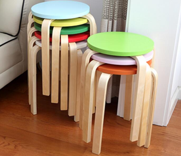 32*45cm Wooden Stool Home round Stools Living Room Dining Chair Hotel Cafe Bar Chair цены
