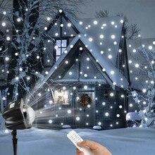 Перемещение снежинки проектор света, 3,6 Вт проекционный прожектор Рождество лампы год светодио дный этап вечерние свет, освещение сада#30