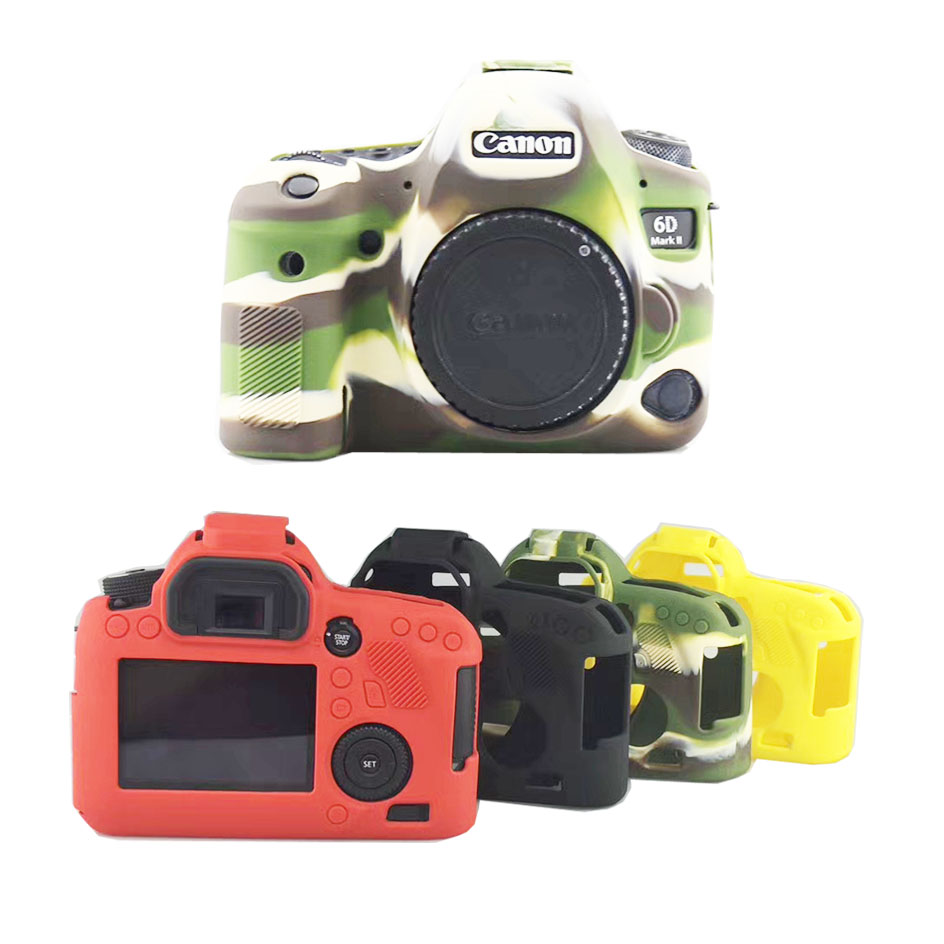 Nice Soft Silicone Rubber Dslr Camera Video Bag For Canon 6dii 6d Mark Ii Protective Body Cover Case Skin Camera Bag Consumer Electronics