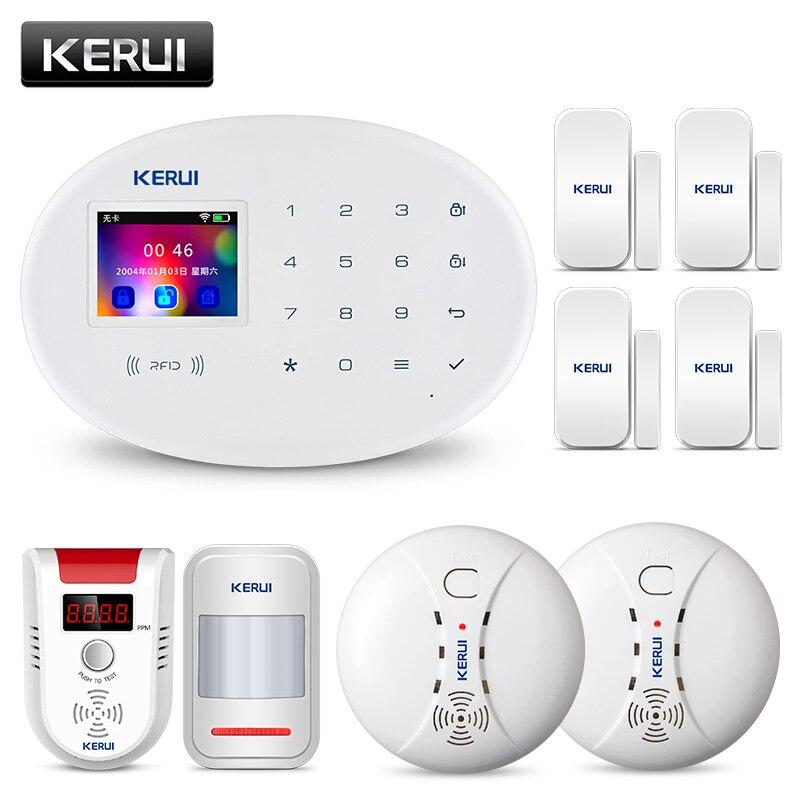 KERUI W20 APP Contrôle détecteur de mouvement système d'alarme de sécurité GSM RFID Carte Disalarm Sans Fil écran couleur tft Accueil alarme anti-effraction
