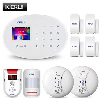 KERUI W20 APP Control Motion Detector Security Alarm System GSM RFID Card Disalarm Wireless TFT Color Screen Home Burglar Alarm