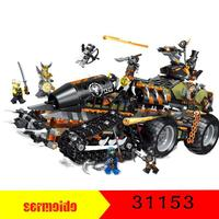 NINJA The Dieselnaut Tank Model Building Blocks Compatible LegoINGly Ninjagoes Set Toys For Children Gift 2018 1236PCS 31153