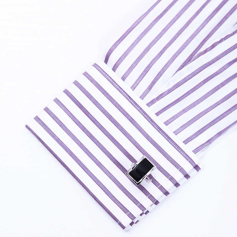 KFLK 2019 Marca de Luxo camisa abotoaduras para o Presente dos homens manguito abotoaduras Alta Qualidade abotoadura bouton de manchette Preto Jóias
