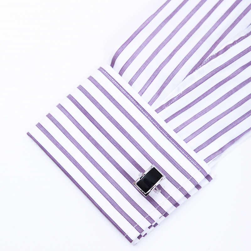 KFLK 2020 lüks gömlek kol düğmeleri erkek hediye için marka manşet bouton de manchette siyah manşet yüksek kaliteli abotoadura takı