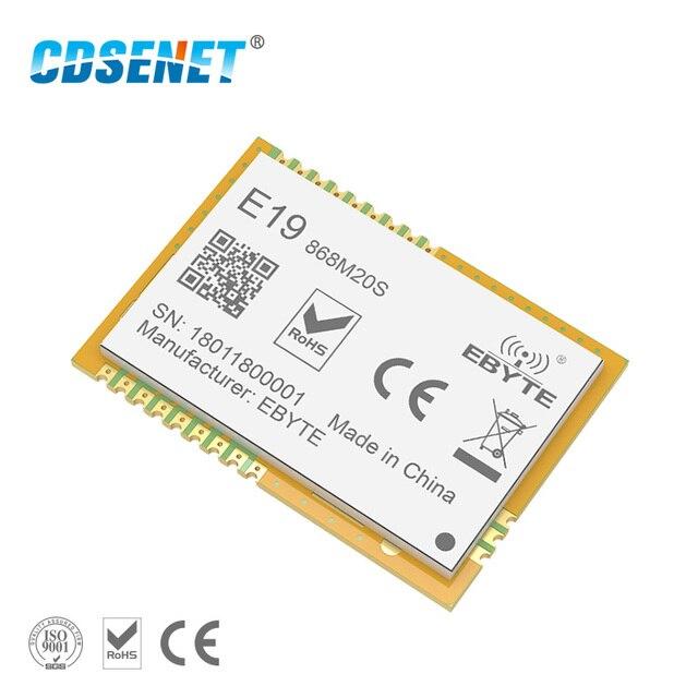 LoRa 868 mhz SX1276 SX1278 Thu Phát Không Dây rf Module 100 mw CDSENET E19-868M20S Dài Phạm Vi SMD 868 mhz Transmitter Receiver