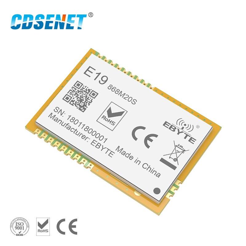 LoRa 868 mhz SX1276 SX1278 Transceiver Wireless rf Modul 100 mW CDSENET E19-868M20S Lange Palette SMD 868 mhz Sender Empfänger