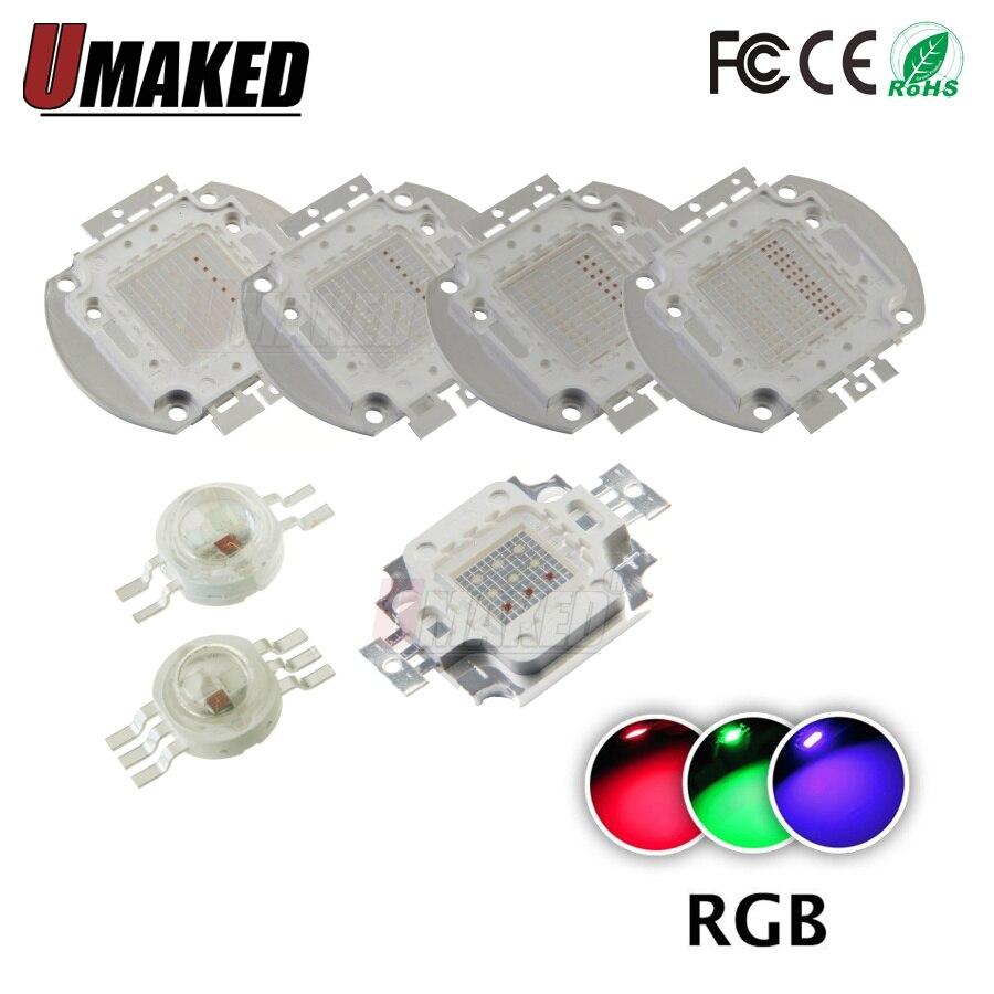 High Power Brightness LED Beads Chip 1W 3W 10W 20W 30W 50W 100W RGB Color For Floodlight Lamp Spot Light COB Chips