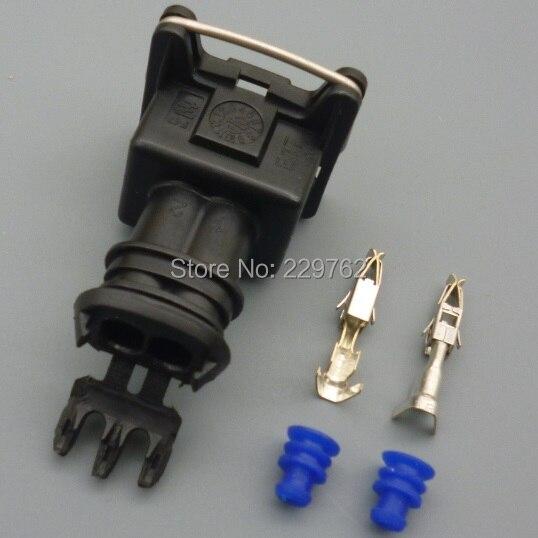 Shhworldsea 1 шт. EV1 282762-1 автомобиля Водонепроницаемый 2 Pin Электрический провод разъем автомобильного Топливная форсунка Разъемы адаптеры для сим-карт