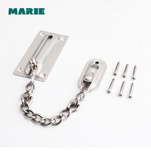 DG008 1pc Safety Door Chain Lock Guard Security Lock Cabinet Locks For DIY Home Door Tools home office use Silver Color