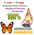 ( 3 bags) Strong butterfly wild plant botanic extracts fat burning 100% effective advanced slimming for 108 days supply
