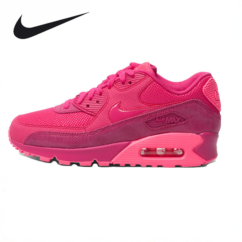 Nike AIR MAX 90 PREMIUM Women Running Shoes,Authentic New Arrival Women Outdoor Sports Sneakers Trainers Shoes nike original 2017 summer new arrival air max 90 women s running shoes sneakers