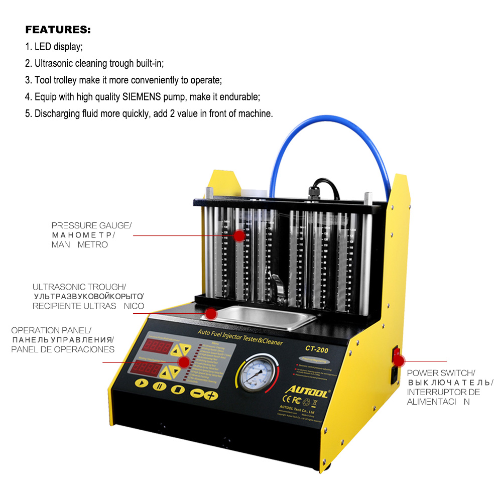 Autool Car Fuel Injector Cleaning Machine (4)