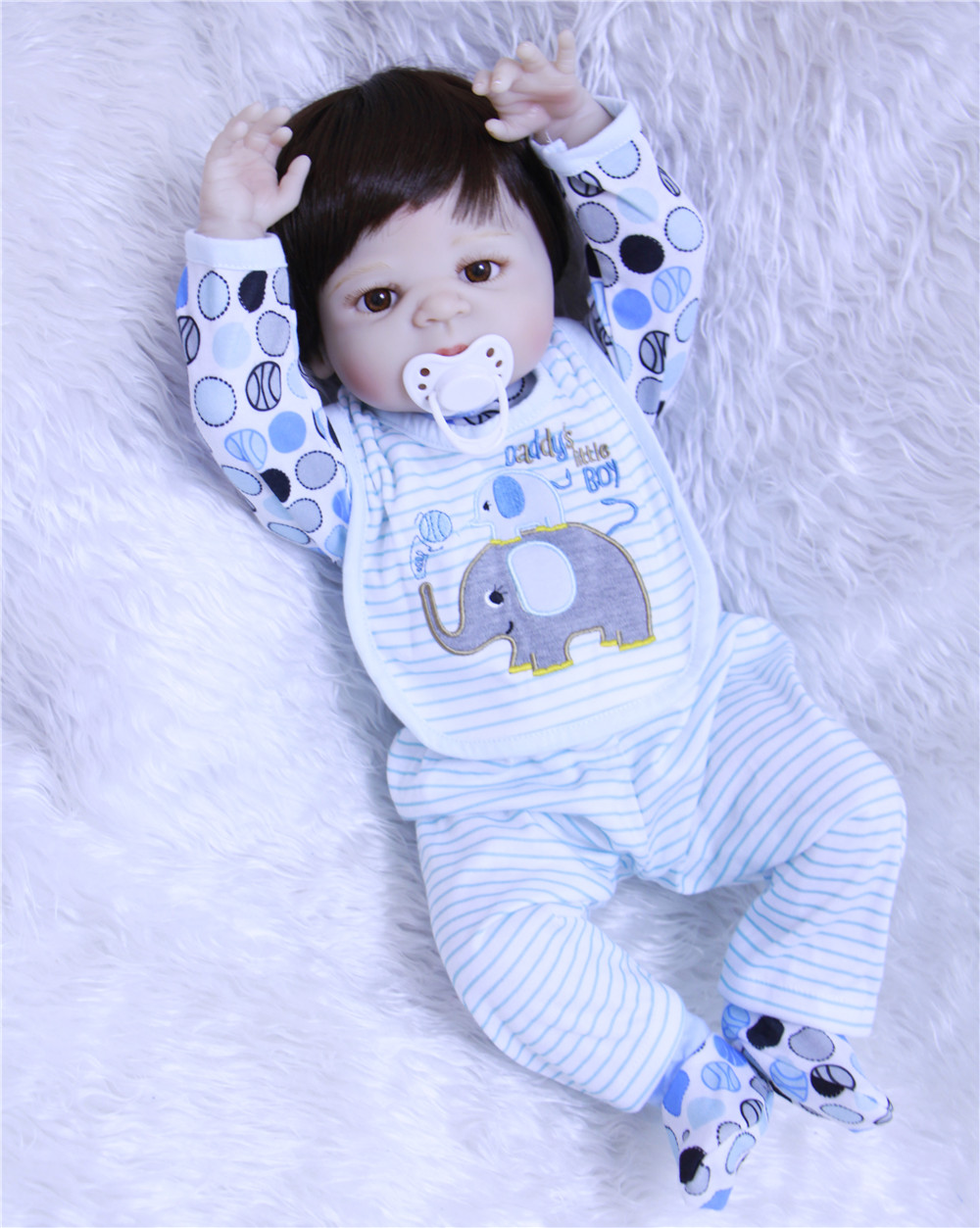 High Quality Bebe Reborn Menino Doll Full Silicone Doll Reborn Baby Boy Toys For Girls Toys Doll Lol 100% Safe And Non-toxic Bjd