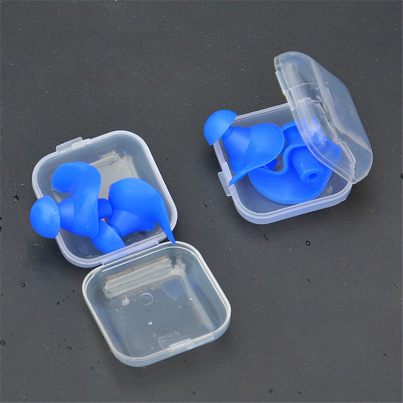 1 Pair Soft Waterproof Earplugs Dust-Proof Ear Environmental Silicone Sport Plugs Diving Water Sports Swimming Accessories 5