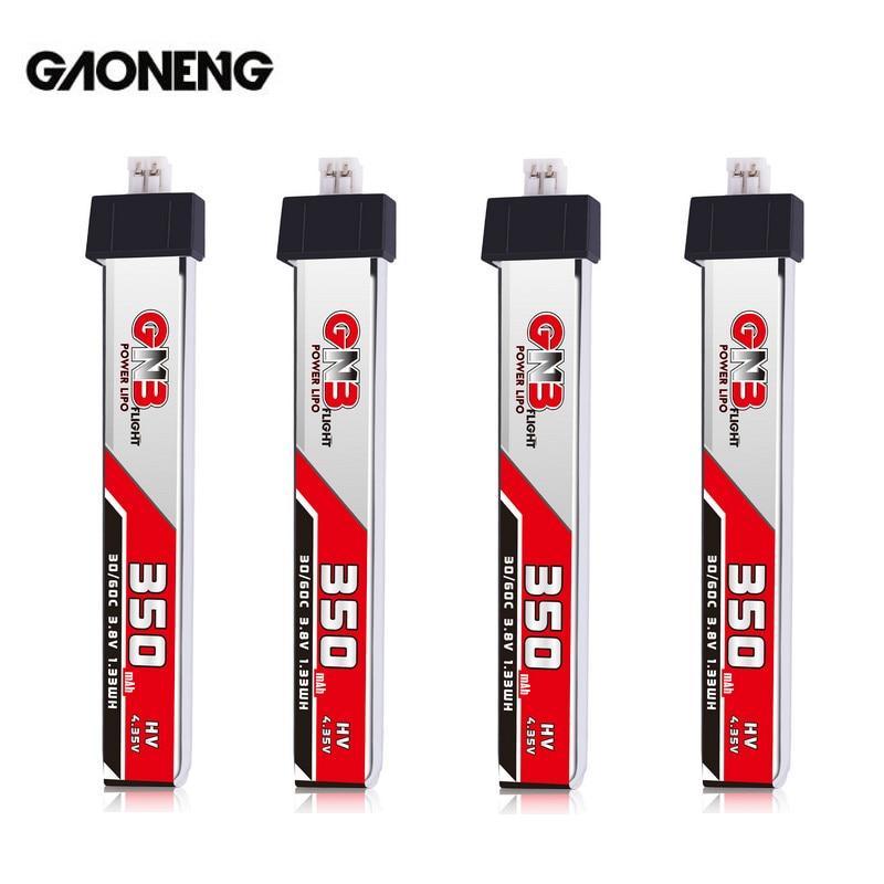 4PCS Gaoneng GNB 1S 350MAH 3.8V HV 4.35V 30C Lipo Battery PH2.0 Plug For BetaFPV Whoop RC FPV Racing Cine Whoop BetaFPV Drone