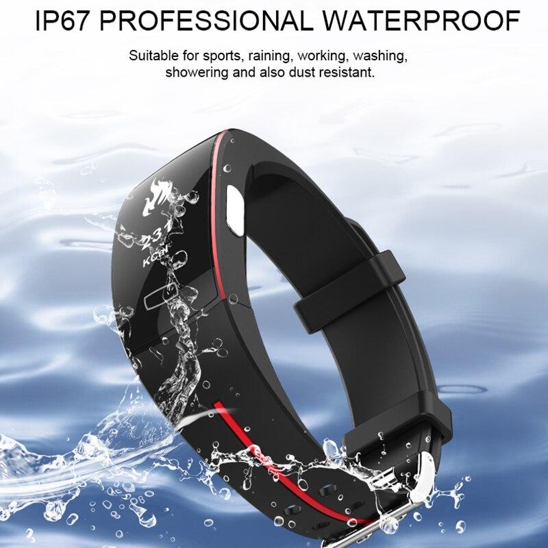P3 Smart Wristband ECG+PPG Smart Bracelet Blood Pressure Dynamic Heart Rate Activity Fitness Tracker Pedometer Smart Band IP67