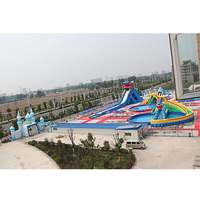 inflatable water combination park inflatable slide inflatable pool inflatable water game sport for sale
