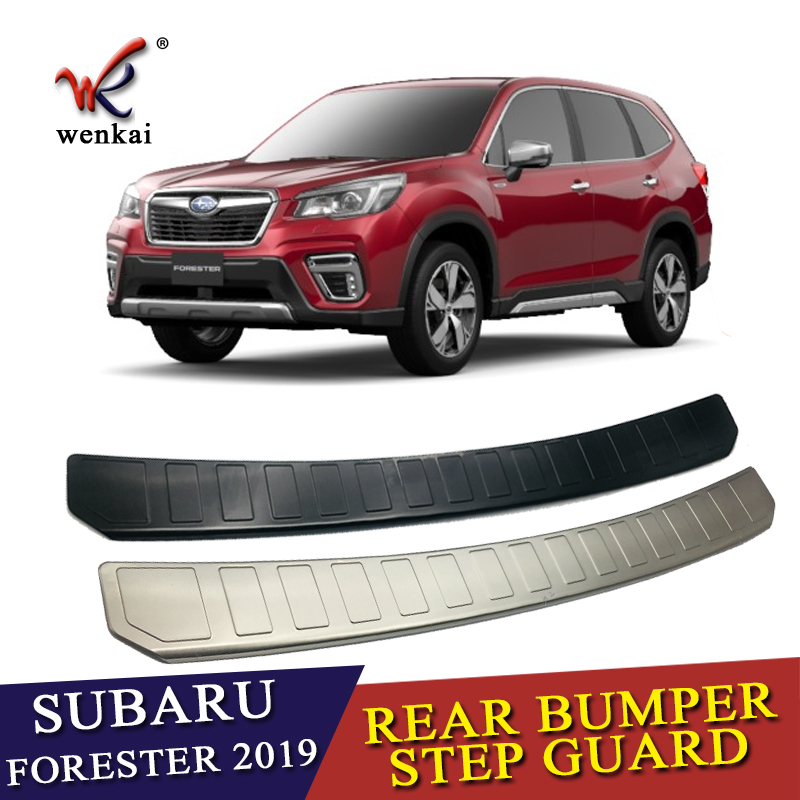 For Subaru Forester SK 2018 2019 Stainless Steel Rear Tail Box Gate Door Bumper Sill Threshold Scuff Plate Foot Pedal Trim