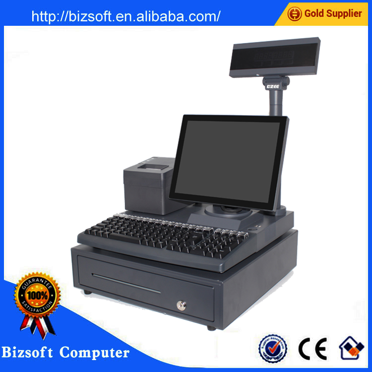 cash register with computer