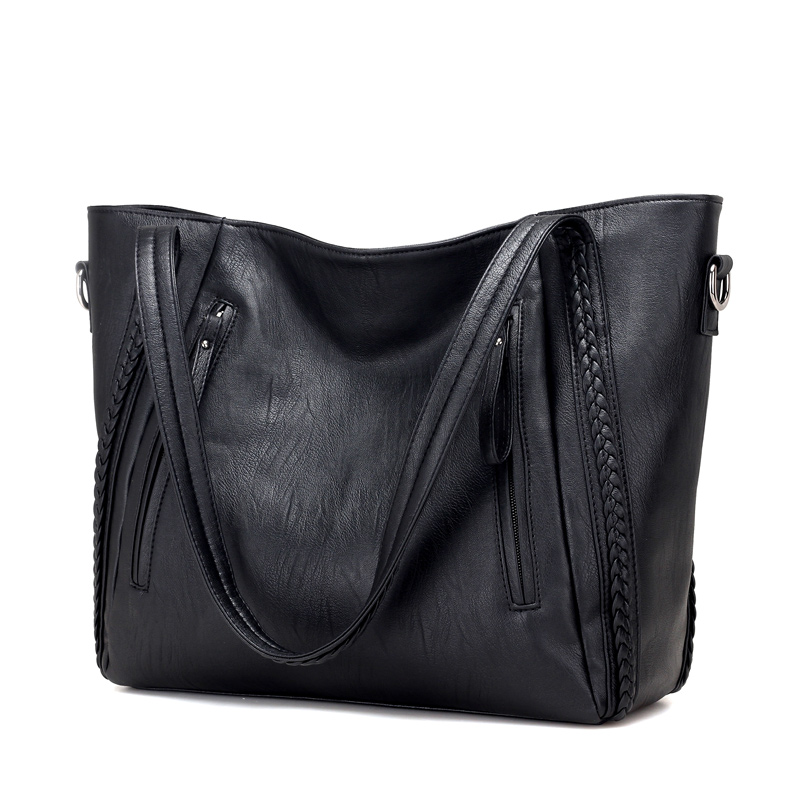 New Pochette Luxury Black Shoulder Bag Women Handbags Designer High Quality Famous Brands Leather Casual Tote Sac A Main Handbag printed letters handbags new hot brand women small tote bag hand bag famous designer high quality handbags sac main femme bolsas