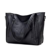 New Pochette Luxury Black Shoulder Bag Women Handbags Designer High Quality Famous Brands Leather Casual Tote