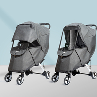 Sunveno Baby Stroller Rain Cover Universal Wind Dust Weather Shield with Windows For Strollers Pushchairs Stroller Accessories