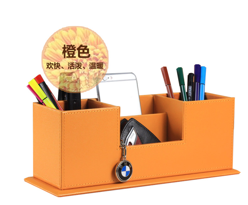 Incroyable Popular Creative Wooden PU Leather Office Pen Holder Pencil Case Desk  Stationery Organizer Case Pencil Box Office Supplies 202C In Pen Holders  From Office ...