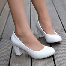 ปั๊มPUส้นสูง7เซนติเมตรผู้หญิงรองเท้า32 33 40ขนาดใหญ่หลาขนาดเล็กขนาดEUR 31-43
