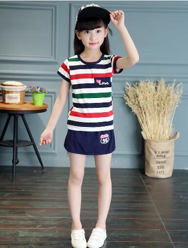 New Kidgarden Suite Set School Uniforms Primary Schoolchild Performance Shirt+ Shorts Boy Girl Summer Clothes T-22