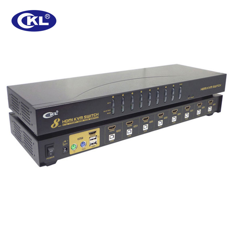 KVM Switch HDMI 8 Port With USB PS/2 Support Auto Scan For Computers Servers Laptop DVR NVR 1080P 3D Rack Mount CKL-9138H