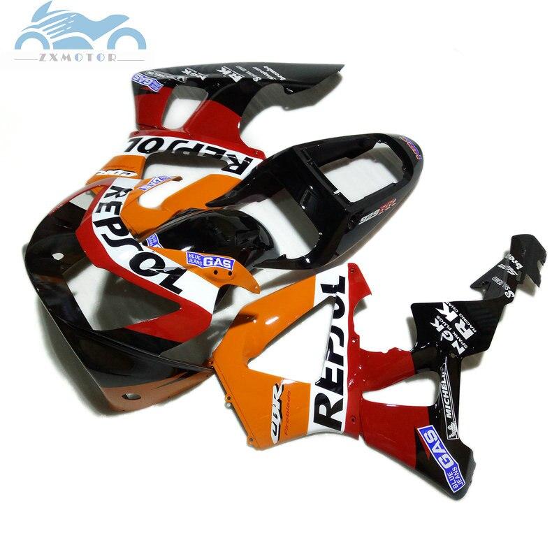 Дешевые пользовательские китайского Комплект обтекателя мотоцикла для HONDA CBR929RR 2000 2001 CBR 929RR 00 01 CBR 900RR repsol Дорожный комплект обтекателей на ко