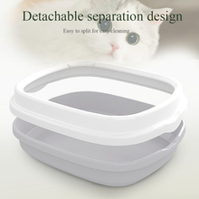 Pet Portable Cat Litter Bowl Toilet Bedpan Large Middle Size Excrement Training Sand Box with Scoop for Pets Kitty #5