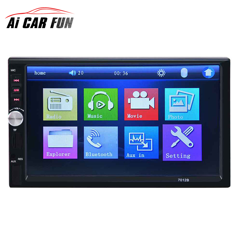 7012B 2 Din Car Video Player 7 inch Auto Audio Stereo MP5 Player 2Din Car DVD Player Support Rear View Camera USB FM Bluetooth professional 6 2 inch 6201a audio dvd sb sd bluetooth 2 din car cd player with automatic memory play car dvd player