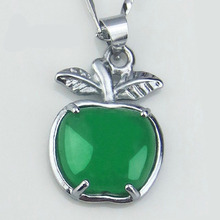 Green jade pendant with green Apple Malay natural valentines day gift