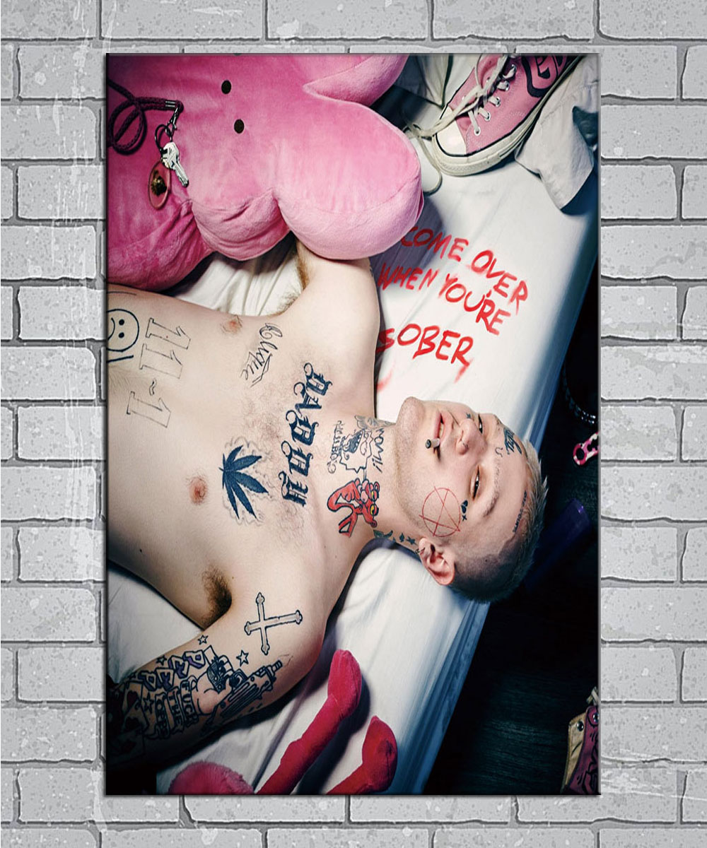 Lil Peep Come Over When You/'re Sober 1 Poster Decor HD Print 24x24 inch Pt