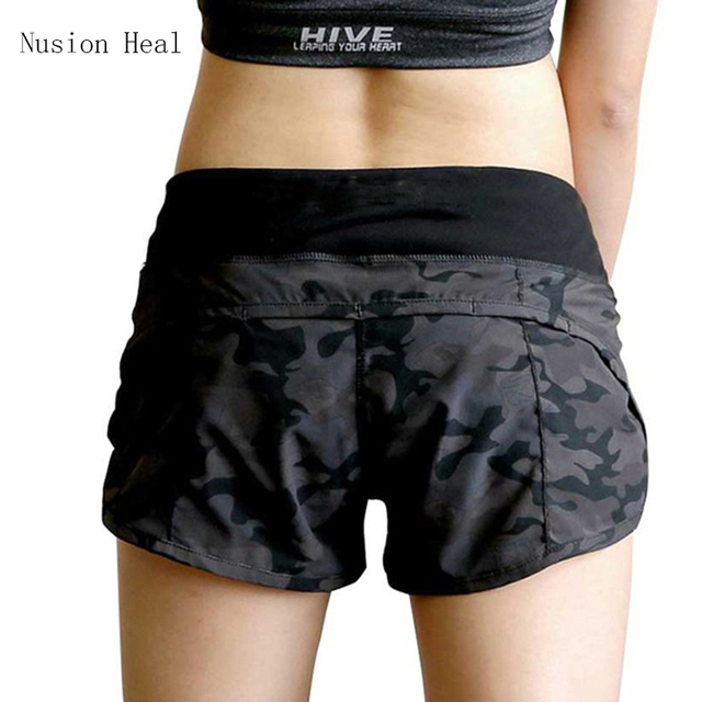 128fa2f301c US $9.23 34% OFF NUSION HEAL Womens Running Shorts 2 In 1 Running Tights  Short Women's Gym Cool Woman Sport Short Fitness Ladies Running Shorts-in  ...
