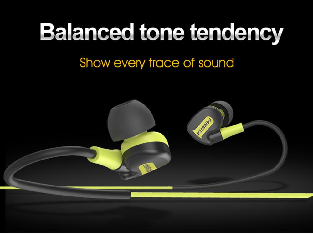 Super Bass Sweat Proof Sports Earphones Black+Green 2