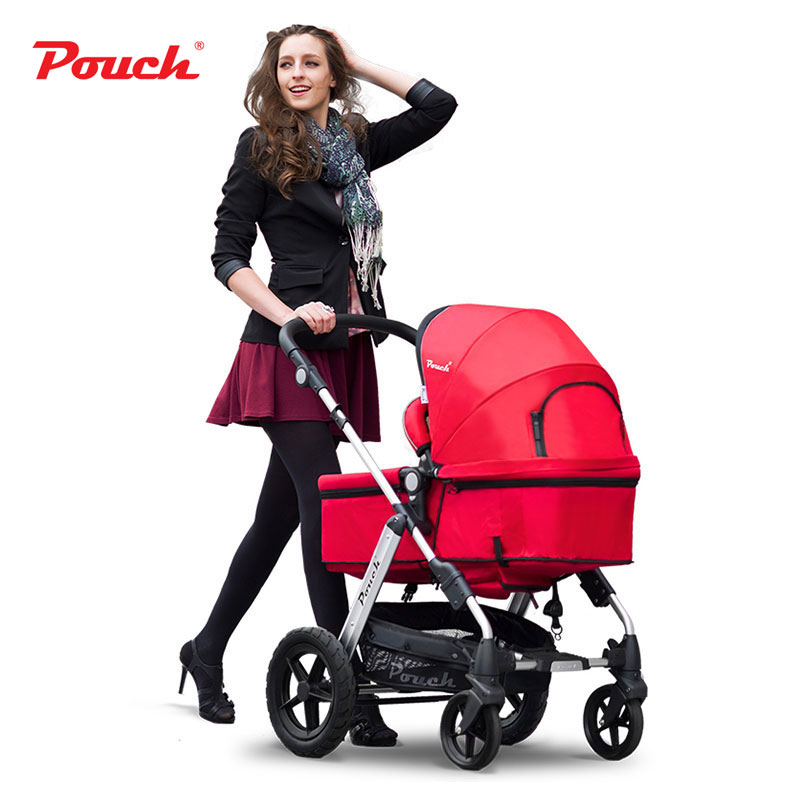 Luxury High Landscape Newborn Infant Baby Stroller Folding Stroller Brand Car Seat Stroller Smart Folding Pram Pushchair 0~4 Y