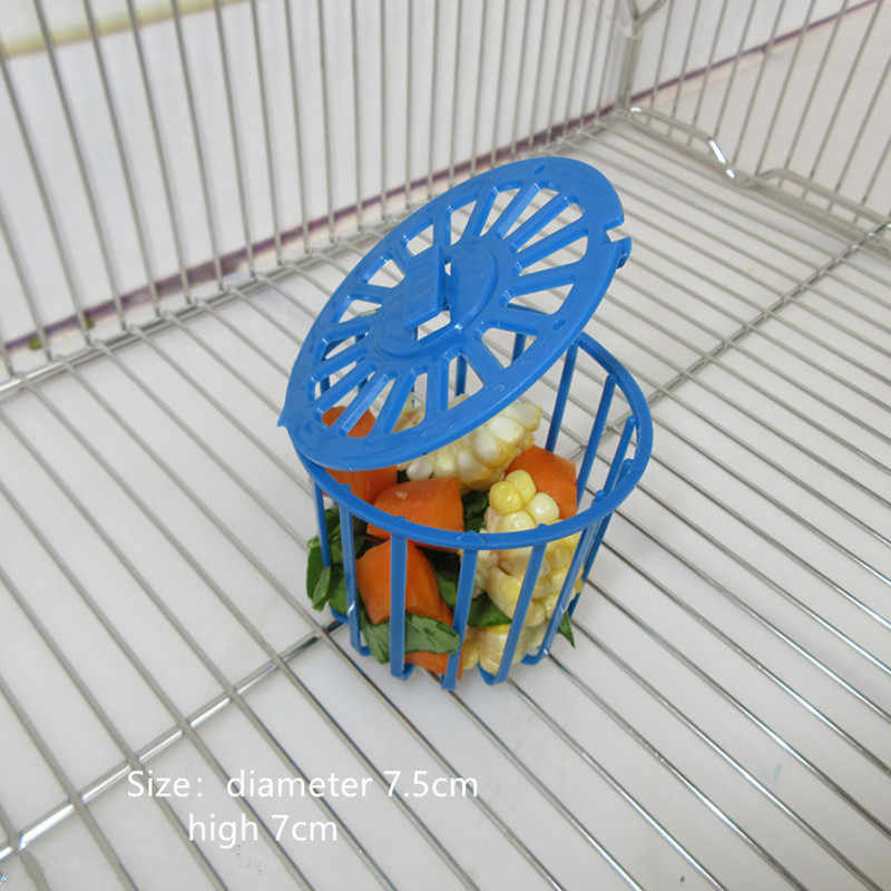 1PC Cute Bird Parrot Feeder Cage Fruit Vegetable Holder Cage Accessories Hanging Basket Container Toys Pet Bird