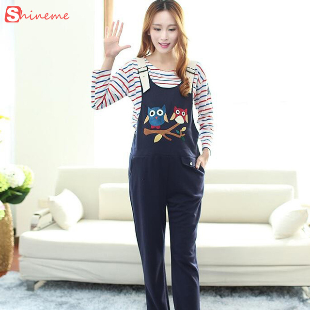 2017 Soft Maternity overalls Ppregnancy Jumpsuits rompers pregnant women Cartoon causal suspender bib Pants Plus Size Clothes