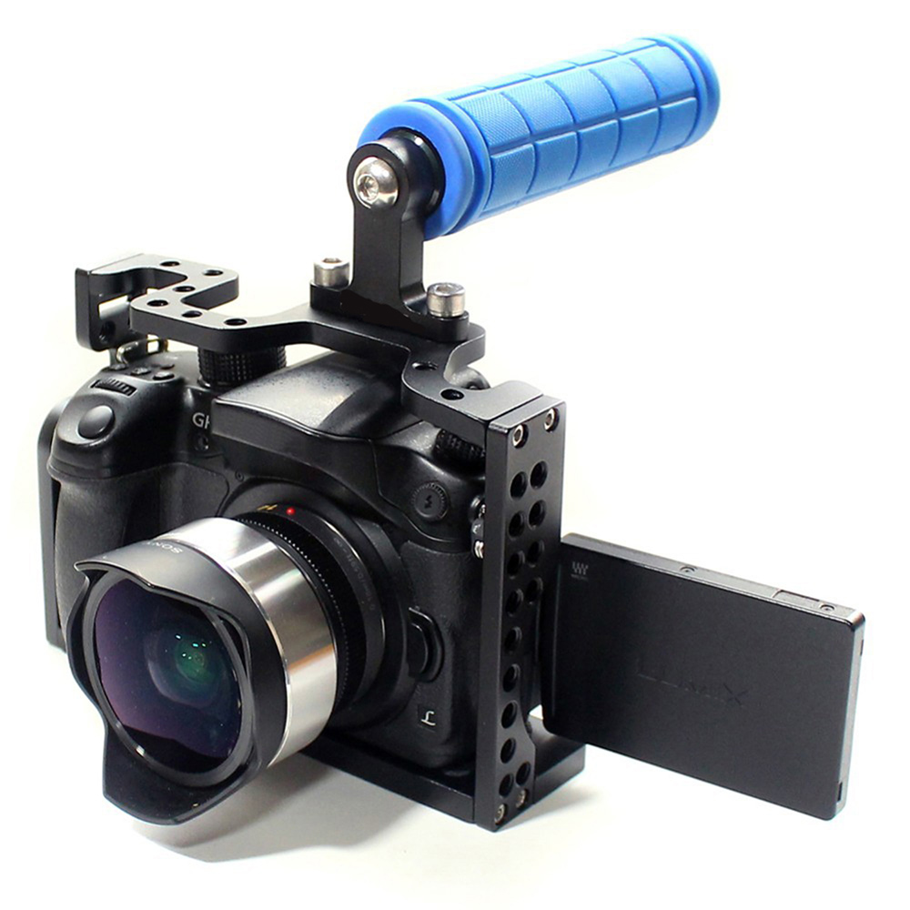 Camera Panasonic Dslr Video Camera aliexpress com buy 2015 new c7 camera cage dslr with top handle grip for panasonic lumix gh3 gh4 rig from re