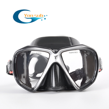 YONSUB Diving Mask Scuba Mask Liguid Silicone Underwater with Great Vision Anti-fog Swimming Snorkeling Goggles With Mask Box цена