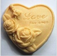 Loving Rose 78 78 40mm Size Silicone Flower Mold Cake Decoration Tools Handmade Soap Chocolate Making