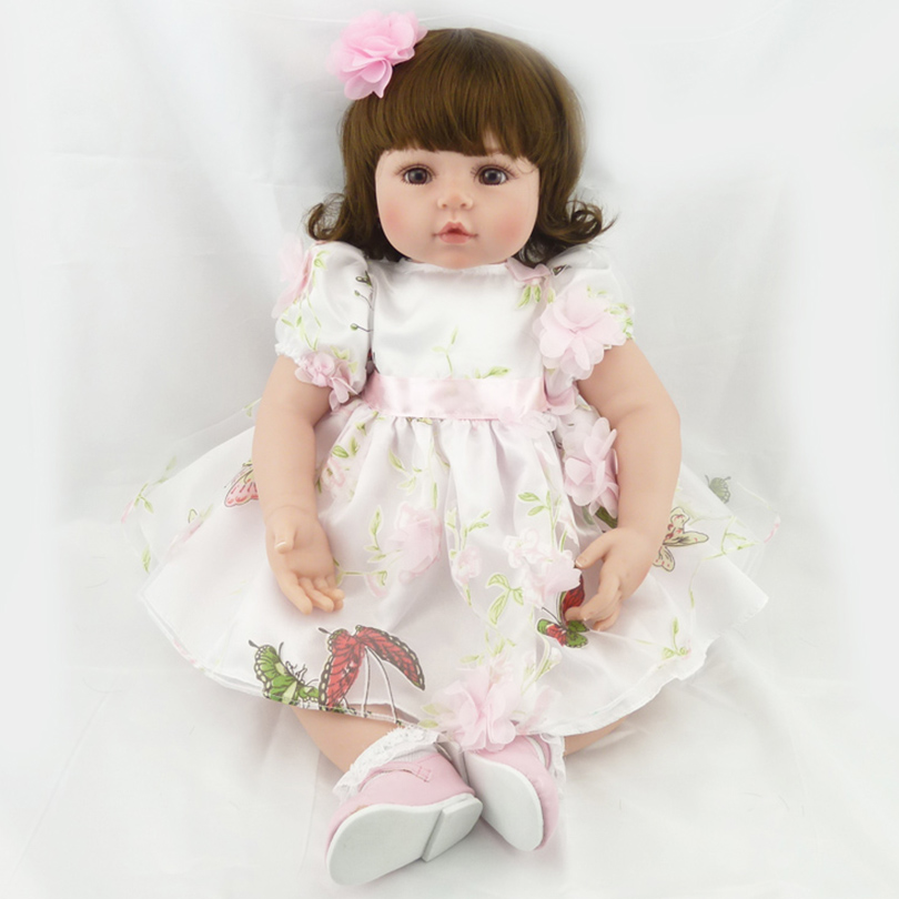 цена Reborn Babies Dolls Cotton Body Silicone Reborn Fashion Doll Toys For Children Doll Reborn House Player Brinquedos For Christmas