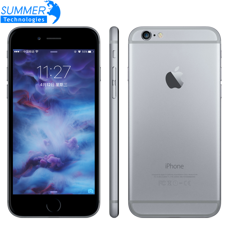 Original Da Apple iPhone 6 s/6 s Plus Mobile Phone Dual Core 12MP 2G RAM 16/64/128G ROM 4G LTE toque 3D impressão digital Celular telefones