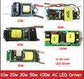 1 pcs de Alta Potência 10 w 20 w 30 w 50 w 100 w Entrada AC 85-265 V saída DC 27-38 V Não-Impermeável fonte de Alimentação LED Driver