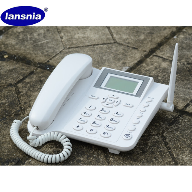 US $35 99 |GSM 900/1800 MHZ Fixed wireless Phone, GSM desktop phone with  SIM card, English Version-in Fixed Wireless Terminals from Cellphones &